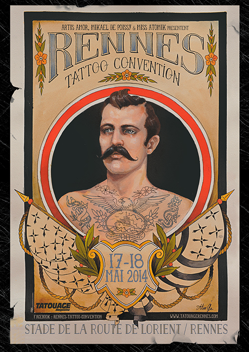 affiche 1ere convention tattoo rennes